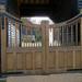 100 mm Thick Half Panelled Oak Gates